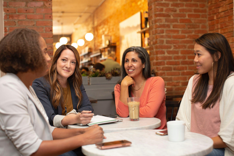 Women talking about estrogen dominance symptoms.