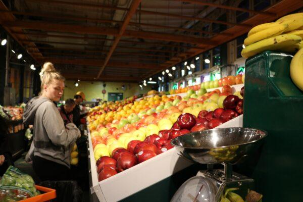woman on a food market